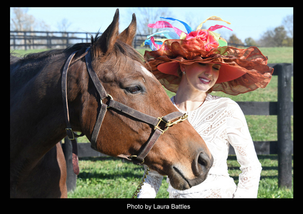 "The ""Afleet Accompli"" Hat modeled by Acacia Courtney - Photo by Laura Battles"
