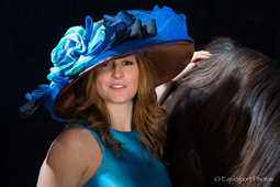 "The ""Afternoon Deelites"" hat with Rosie Napravnik - ""Hats Off to the Horses"""