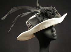 Kentucky Derby hats in ivory and black