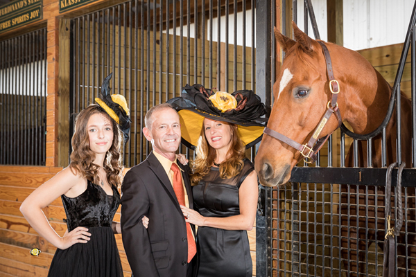 "The ""Awesome Gem"" Hat modeled by Krystal, Jon and Aubrey Court - Photo by EquiSport Photos"