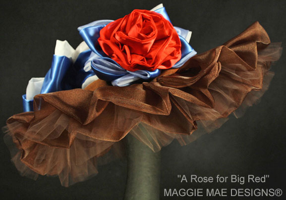 """A Rose for Big Red"" hat created in 2010 to honor Secretariat"