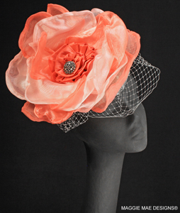 "The ""Charlize"" cocktail hat"