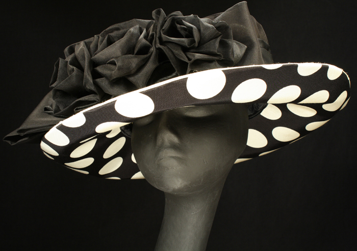 polka dot Derby hats
