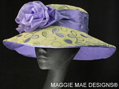 lime mint green and purple hats for Derby
