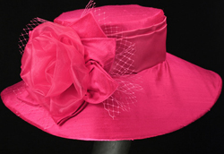 hot pink hats for Oaks and Derby