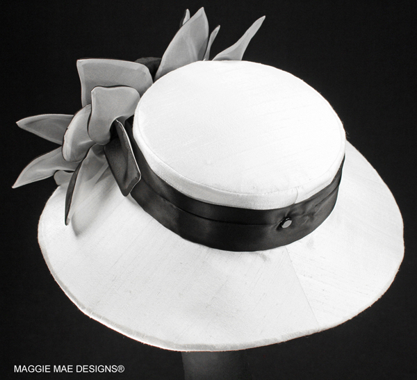 Chelsea Der60-048 black and white Derby Hat
