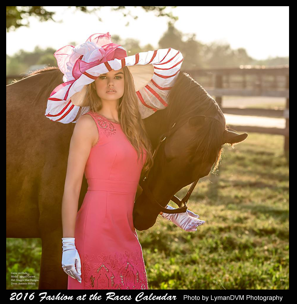 "The ""Cherie"" Hat featured in the 2016 ""Fashion at the Races"" calendar"