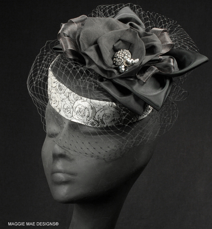 "The ""Clarice"" Fascinator - The Silver Belles Hat Collection"