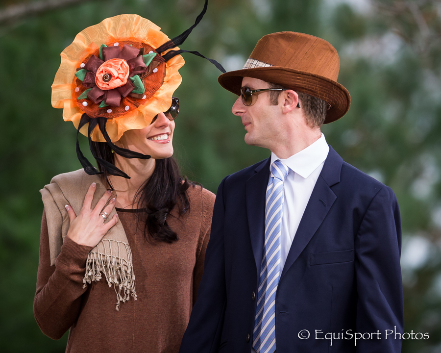 Clever Allemont hat modeled by Shea Leparoux with Julien Leparoux - Matt/Wendy Wooley, EquisportPhotos.com