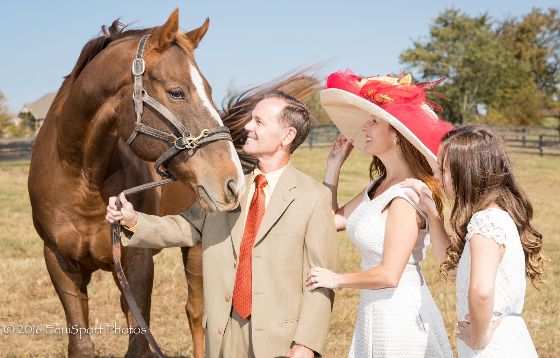 "The ""Danthebluegrassman"" Hat modeled by Krystal, Jon and Aubrey Court - Matt/Wendy Wooley, EquisportPhotos.com"