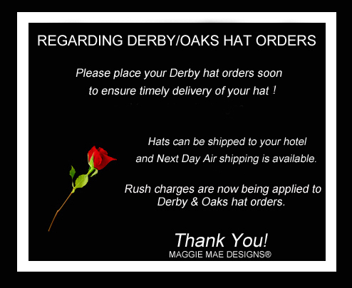 Hats for the Kentucky Derby by MAGGIE MAE DESIGNS!