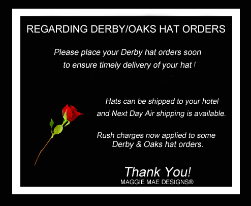 Derby Oaks Hat Orders