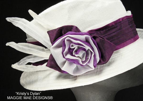Dylan top hat with purple trim for Derby
