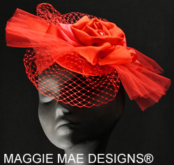 red Derby fascinators