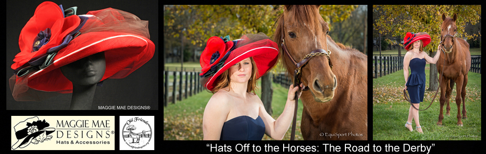 """Hats Off to the Horses"" of Old Friends - Annual Derby hat auction series sponsored by MAGGIE MAE DESIGNS®"