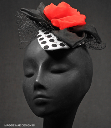 "The ""Greta"" fascinator"