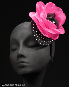 "The ""Greta"" fascinator with headband attachment"