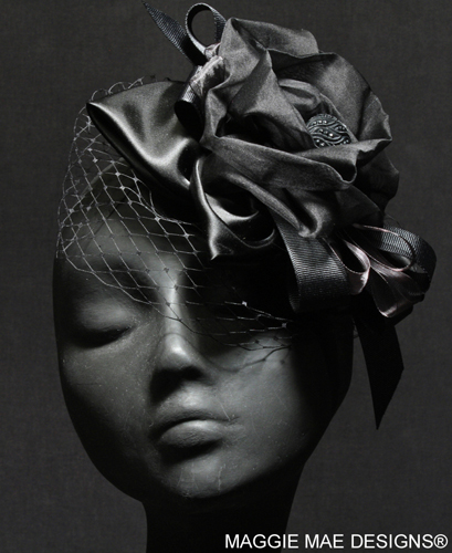 Black silk hair ornament