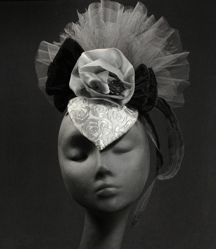 "The ""Isabella"" Fascinator - The Silver Belles Hat Collection"