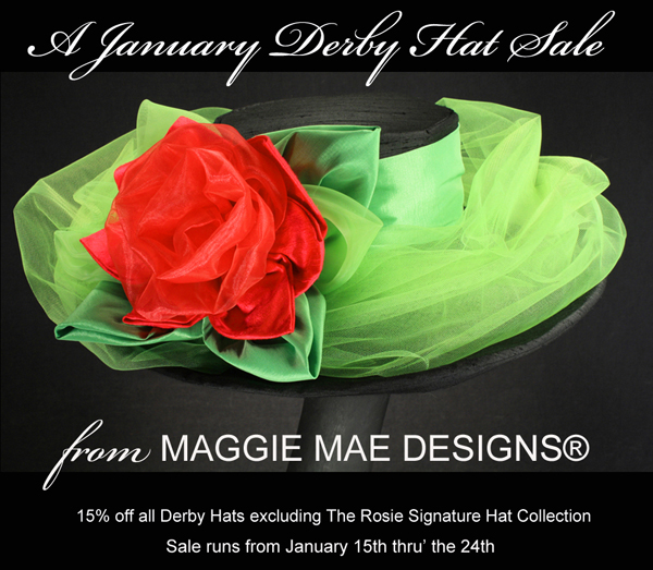 January Derby Hat Sale from January 15-24th!