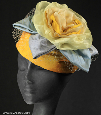 "The ""Juliette"" cocktail hat for Derby"