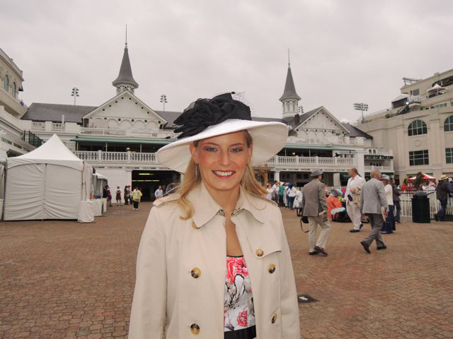 Kara and her Custom Chelsea Derby hat!