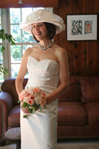 Custom bridal hats - Liza