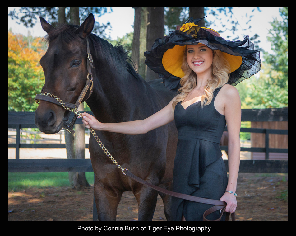 "The ""King Congie"" Hat modeled by Acacia Courtney - Photo by Connie Bush of Tiger Eye Photography"