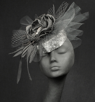 "The ""Kristen"" Fascinator - The Silver Belles Hat Collection"