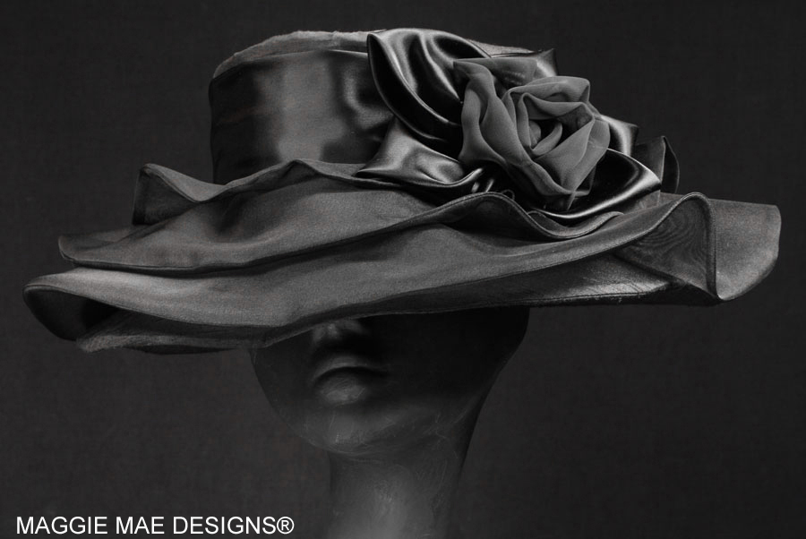 Lauren silk carriage driving hat