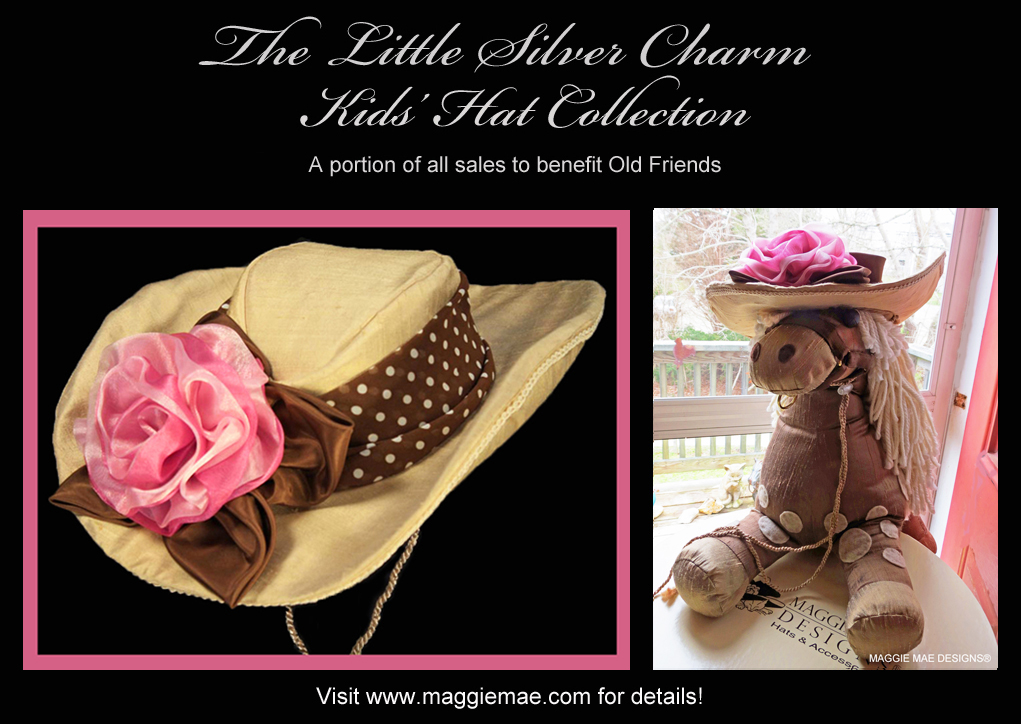 Rose, the Butter Silk Cowgirl Hat from the Little Silver Charm Kids Hat Collection by MAGGIE MAE DESIGNS