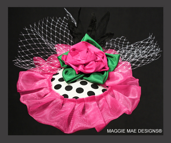 The Emily fascinator from the Little Silver Charm Kids Hat Collection by MAGGIE MAE DESIGNS