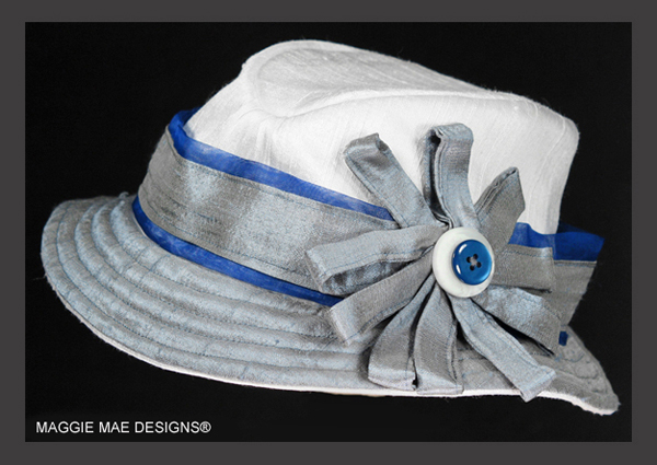 The Zachary fedora from the Little Silver Charm Kids Hat Collection by Maggie Mae Designs