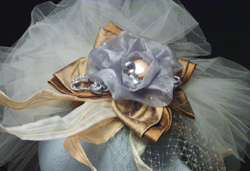 "Derby couture-""Little Silver Charm"" hat"