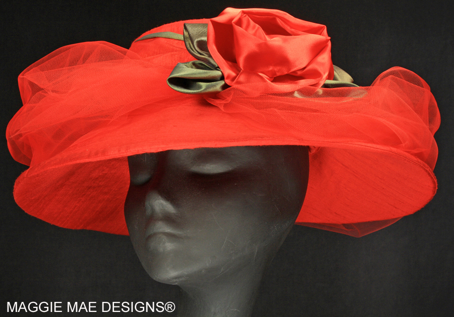 Red silk hats for the Kentucky Derby