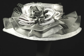 silver wedding hats
