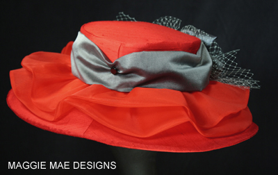 red silk hats