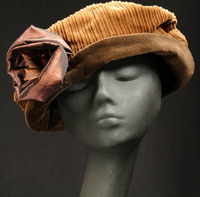 corduroy and velveteen cloche