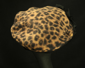 leopard fleece hats