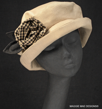 Maggie casual natural  linen summer hat
