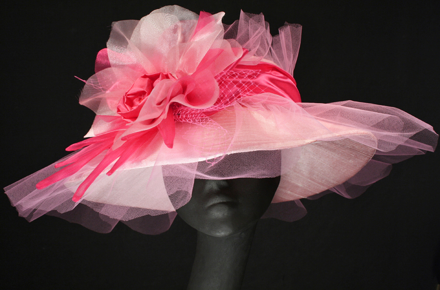 pink Oaks and Derby hats