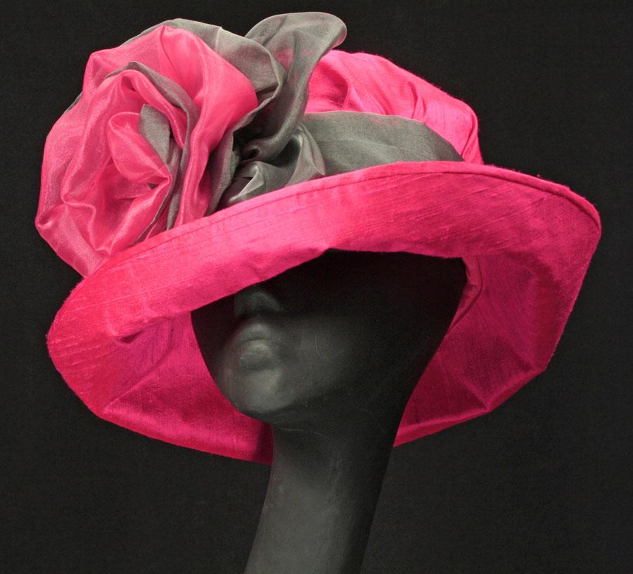 Mary Der202 002 Hot Pink Silk Hat By Maggie Mae Designs