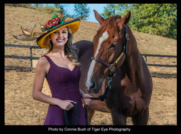 "The ""Mr. Cowboy"" Hat modeled by Acacia Courtney - Photo by Connie Bush of Tiger Eye Photography"