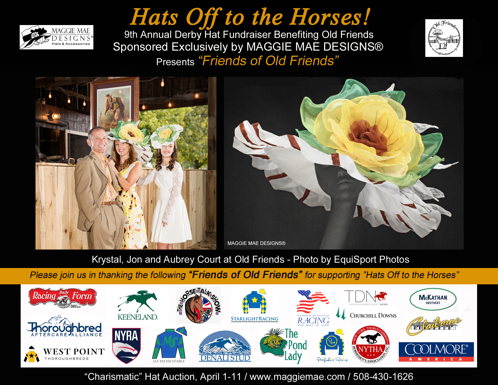 """Friends of Old Friends"" - ""Charismatic"" Derby Hat Auction"