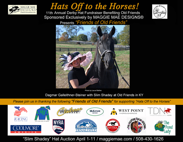 """Friends of Old Friends"" - ""Hats Off to the Horses"" Derby Hat Auction"