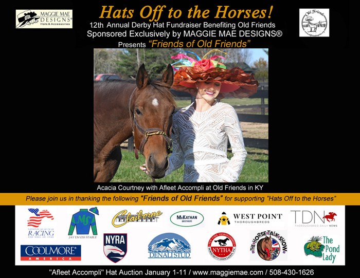 """Friends of Old Friends"" - Supporters of the ""Hats Off to the Horses"" Derby Hat Auction"