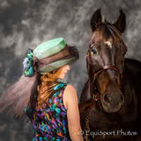 "The ""Patton"" hat with Rosie Napravnik - ""Hats Off to the Horses"""