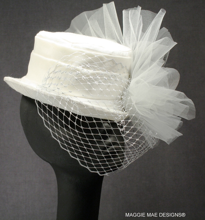 "Couture Bridal Millinery - The ""Robin's Billie"""