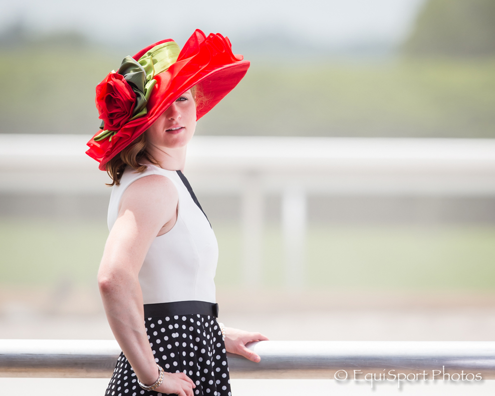 Rosie Napravnik modeling The Rosie Hat Collection - EquiSport Photos