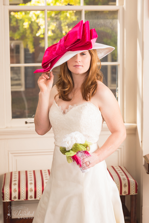"Rosie Napravnik modeling the ""Brooke"" Chapeau for Weddings - Photo by Unveiled Studio"